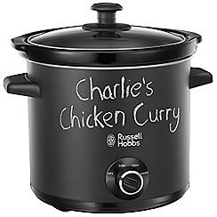Russell Hobbs - Black Chalkboard 3.5l slow cooker 24180