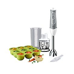 Braun - White and grey 'MultiQuick 5' baby hand blender MQ523
