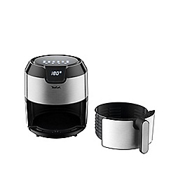 Tefal - Black and silver 'Easy Fry Deluxe' 4.2L digital low fat fryer EY401D40