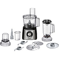 Bosch - Black compact food processor MCM3501MGB
