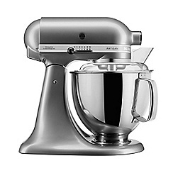 KitchenAid - Silver 'Artisan' food mixer 5KSM175PSBCU