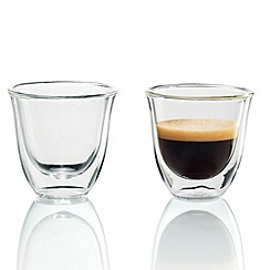 DeLonghi - Pack of two 'Espresso' thermal glasses