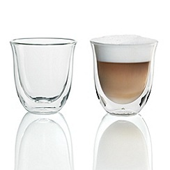 DeLonghi - Pack of two 'Cappuccino' thermal glasses