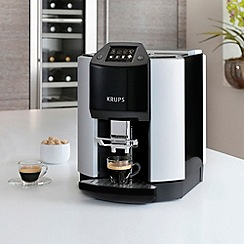 Krups - Black and silver 'Espresseria' automatic bean to cup coffee machine EA9010