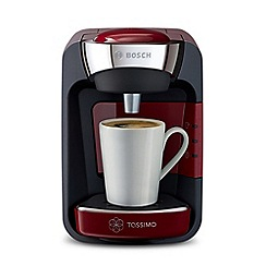 Tassimo by Bosch - Red 'Suny' espresso coffee machine TAS3203GB