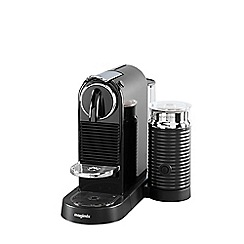 Nespresso - Black 'Citiz & Milk' coffee machine and aeroccino 3 by Magimix 11317