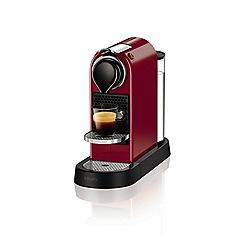 Nespresso - Cherry red 'Citiz' coffee machine by Krups XN740540