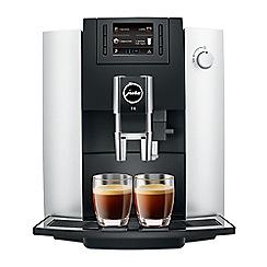 Jura - Platinum 'E6' automatic bean to cup coffee machine 15079