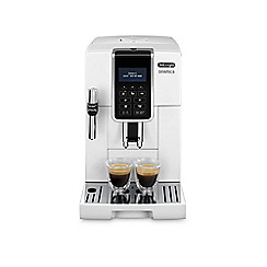 DeLonghi - White dinamica bean to cup coffee machine ECAM350.35W