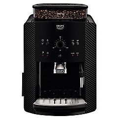 Krups - Carbon 'Arabica Manual' automatic espresso bean to cup coffee machine - EA811K040