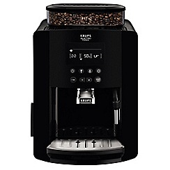 Krups - Black 'Arabica Digital' automatic espresso bean to cup coffee machine - EA817040