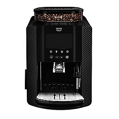 Krups - Carbon 'Arabica Digital' automatic espresso bean to cup coffee machine - EA817K40