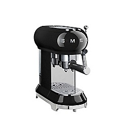 Smeg - Black Espresso coffee machine ECF01BLUK