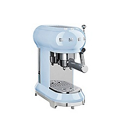 Smeg - Pastel blue Espresso coffee machine ECF01PBUK