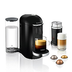 Nespresso - Black 'Vertuo Plus and Aeroccino' Nespresso® coffee machine XN902840