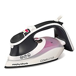 Morphy Richards - Black and white 'Comfigrip' steam iron 301020