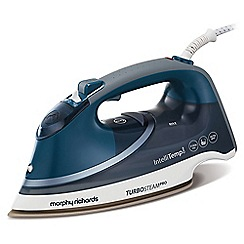 Morphy Richards - Blue and white 'Turbosteam Pro' steam iron 303131
