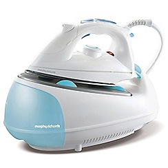 Morphy Richards - White and blue 'Jet' steam generator iron 333021