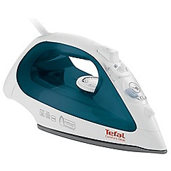 Tefal - Blue and white 'Comfort Glide' steam iron FV2650G0