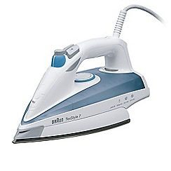 Braun - White and blue 'TexStyle 7' steam iron TS725A