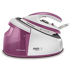 Morphy Richards - White and purple 'Speed Steam' iron 333201