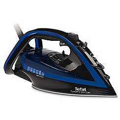 Tefal - Blue and black turbo pro anti-scale steam iron FV5648