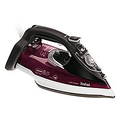 Tefal - Dark red and grey ultimate anti-scale steam iron FV9788