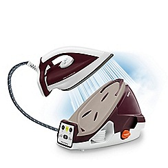 Tefal - White and burgundy 'Pro Express' high pressure steam generator iron GV7810
