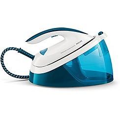 Philips - Blue and white 'PerfectCare Compact Essential' iron GC6830/26