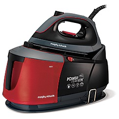Morphy Richards - Black and red 'Power Steam Elite' auto clean steam generator iron 332013