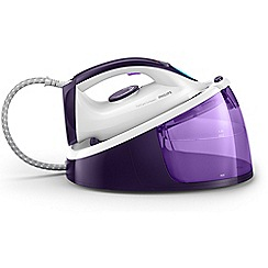 Philips - White and purple 'FastCare Compact' steam generator iron GC6730/36