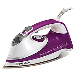Morphy Richards - Purple and white 'Turbosteam Pro' steam iron 303126