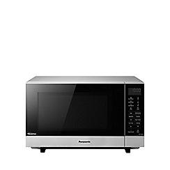 Panasonic - Silver free-standing microwave NN-SF464M