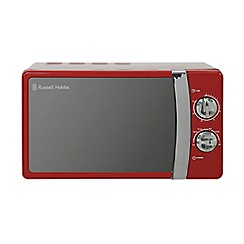Russell Hobbs - Red 'Colours' manual microwave with oven RHMM701R
