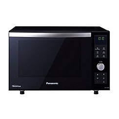 Panasonic - Black microwave with oven and grill NN-DF386BPQ
