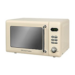 Russell Hobbs - Cream 'Retro' digital microwave RHRETMD706C