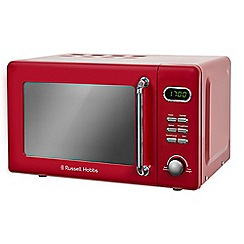 Russell Hobbs - Red retro 17 litre digital solo microwave oven RHRETMD706R