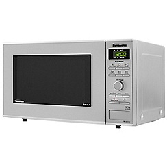Panasonic - Silver Inverter microwave oven with grill NN-GD37HSBPQ