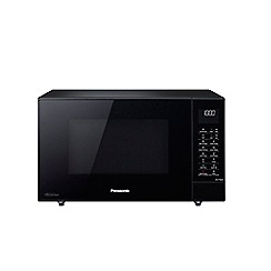 Panasonic - Black slim-line combi microwave oven NN-CD56JBBPQ