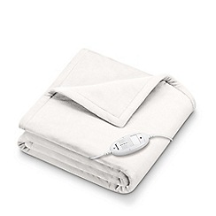 Beurer - White extra warm snuggly heated throw HD75-42416