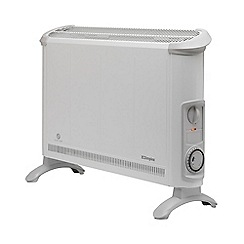 Dimplex - White 2kW convector heater with timer 402TSTI