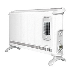 Dimplex - White 3kW convector heater with timer and turbo fan 403TSFTIE