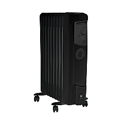 Dimplex - Black 2kW oil filled electric radiator OFC2000TIB