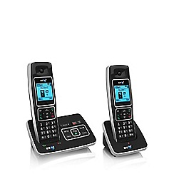 BT - Black 6500 twin DECT telephone with answering machine & nuisance call blocker
