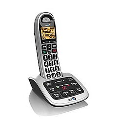 BT - Black 7600 single dect telephone with answering machine