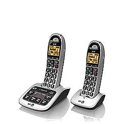 BT - Black 4500 twin DECT telephone with answering machine and nuisance Call blocker