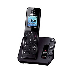Panasonic - KX-TGH220EB single black dect telephone with colour LCD