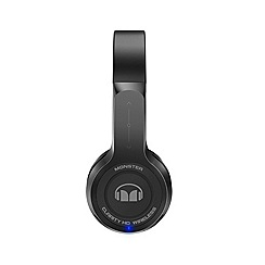 Monster - Black clarity HD on-ear bluetooth headphones