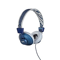 Marley - Denim 'Positive Vibration' on ear headphones EM-JH011-DN
