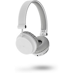KitSound - White 'Metro' over ear wireless bluetooth headphones KSMEWH